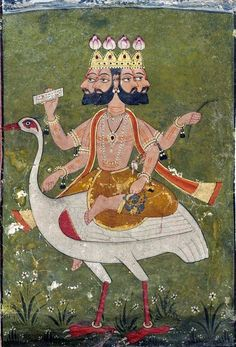 Brahma. Punjabi depiction from about 1700.