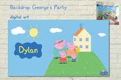 Telón de fondo de PEPPA e GEORGE PIG partido del hogar digital Por BolleBluParty
