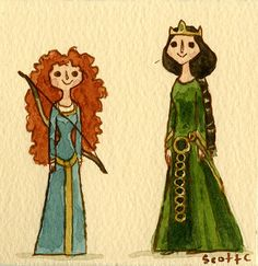 "by Scott C. ""I want my freedom!"" #Brave #Pixar #watercolor"