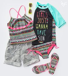 For fun in the sun, just add Aztec print and flounce!