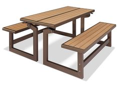 """Convertible Bench - 56"""" H-5947 - Uline Parks Furniture, Outdoor Furniture, Poly Bags, Picnic Table, Steel Frame, Plank, Dining Bench, Convertible, Benches"""