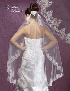 Symphony Bridal 6038VL Mantilla Style Wedding Veil - oh so romantic! affordableelegancebridal.com