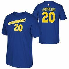 Golden State Warriors adidas 2015 James Michael McAdoo Social Media Tee - Blue