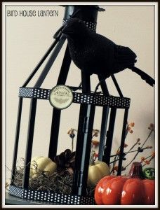 Recycle an old outdoor lantern into a spooky bird house... via Clean and Scentsible