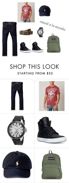 casual by laura-juvera on Polyvore featuring Affliction, Scotch & Soda, Supra, JanSport, Torino Leather Co., Polo Ralph Lauren, men's fashion and menswear