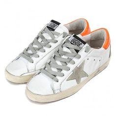 Scarpe 2016 Golden Goose Super Star Low Sneaker GGDB Handmade Uomo Bianca  Arancia Outlet 9dfd4b3a3bf