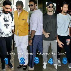 VOTE NOW  For your Favorite Look !! . . #Look  1 #Abhishekbachchan  #Look  2 #Amitabhbachchan  #Look  3 #KunalkKapoor  #Look  4 #SoorajPancholi  #Look  5 #Sidharthmalhotra . For more follow #BollywoodScope and visit http://bit.ly/1pb34Kz