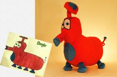 Turn your child's drawing into a unique stuffed animal! http://www.walletburn.com/Budsies_641.html