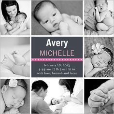 Frames Of Girl Birth Announcement