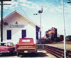 Stanwood Washington, Great Northern Railroad, Out Of Touch, Our Town, I Want To Travel, Train Tracks, Washington State, Places Ive Been, Cabin