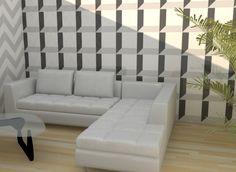 glossy ceramic wall
