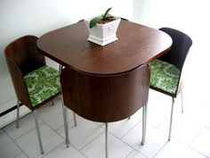 IKEA Fan Favorite: FUSION dining table and chairs. The chair backs ...