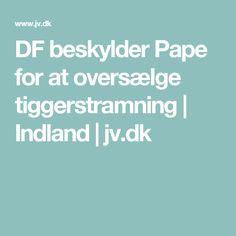 DF beskylder Pape for at oversælge tiggerstramning | Indland | jv.dk