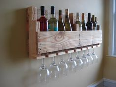 Reclaimed Wood Pallet Wine Rack by lestudio2 on Etsy, $59.00