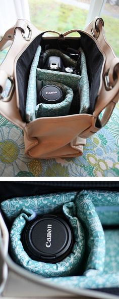 DIY Camera Bag - inserts to turn any bag into a camera bag #CameraAccessories
