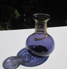 Vintage BLENKO GLASS Vase 8318 in Violet with by HappilyEraAfter, $55.00