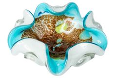 Aqua Murano Glass Dish