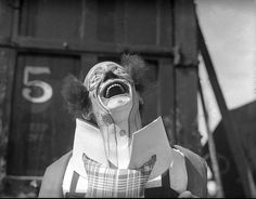 """Remind Me Again.....  ...why is it that some people think clowns are creepy? c.1910 """