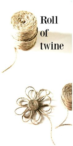 to make a twine flower Make a twine flower. Perfect for embellishing home decor, gifts and more. Popular pinMake a twine flower. Perfect for embellishing home decor, gifts and more. Twine Flowers, Diy Flowers, Fabric Flowers, Paper Flowers, Ribbon Flower, Wall Flowers, Flower Diy, Burlap Projects, Craft Projects