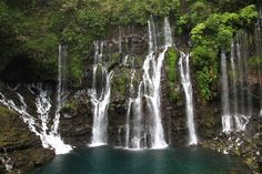 """Reunion Island, Africa Picture: Der Wasserfall """"Cascade Langevin"""" - Check out Tripadvisor members' 296 candid photos and videos of Reunion Island Beautiful Islands, Beautiful Places, Beach Foto, Voyage Reunion, Balos Beach, Island Life, Wonders Of The World, Places To See, Trip Advisor"""