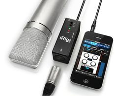 The iRig Pre is a wonderful way to turn your Smartphone into a recording studio. Just plug in the mic into the iRig, connect to the Smartphone (iOS or Android), and start recording. I use it for my live streams from Periscope - works like a charm!