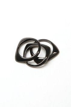 Han Cholo- stacked rings (gunmetal) - Han Cholo   80's Purple http://shop.hancholo.com