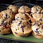 Whole Wheat Blueberry Muffins Recipe  I used 2/3 cup Greek yogurt instead of the oil, 1 tsp baking soda and 1 tsp baking powder (not 2 bp), cut the sugar to 1/2 cup, added 1 tsp cinnamon and 2 tsp pure vanilla extract.