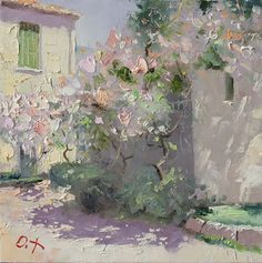 Venice Mist in Saint Petersburg Evening in London London Mist Rainy Night in Paris Almond Bloom White Portugal Sun Blooming . Abstract Landscape, Landscape Paintings, Flower Paintings, Impressionist Paintings, Traditional Paintings, Russian Art, Figure Painting, Art Oil, Art Blog