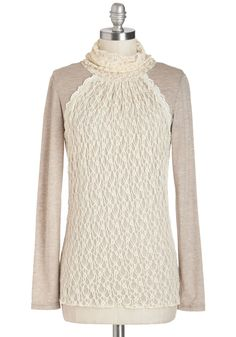 Best of Clothes Worlds Top. Aiming for an ensemble thats relaxed yet ravishing, adorable yet refined? #cream #modcloth
