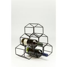 Stojak na wino Kare Design Black Hornet Kare Design, Hornet, Shoe Rack, Wine, Furniture, Black, Home Decor, Condo, Decoration