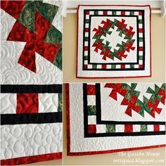 "My first attempt at making a Twister quilt using the Lil' Twister tool.  Size is 30"" x 30"".   Quilting by Janice Kiser"