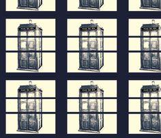 TARDIS fabric by featheralchemist on Spoonflower - custom fabric