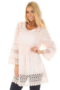 f535d6de2 Lime Lush Boutique - Blush Tunic with Crochet Lace Details