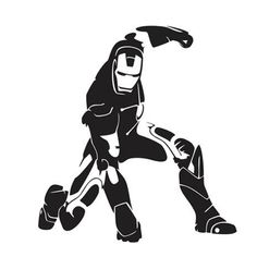 Ironman Die Cut Vinyl Decal PV606 for Windows, Vehicle Windows, Vehicle Body Surfaces or just about any surface that is smooth and clean!
