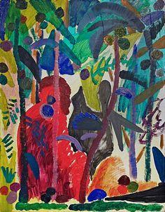 Shara Hughes, Jungle, 2014, American Contemporary