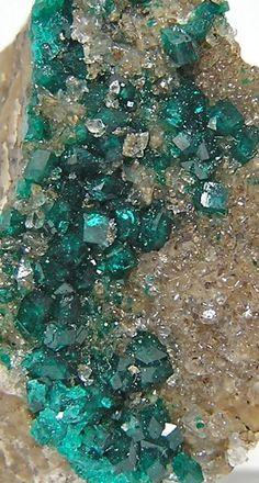 Druzy Verde De esmeralda Dioptase Cristales sobre matriz por FenderMinerals,