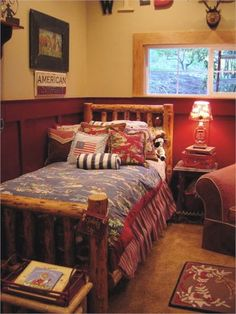 "western rooms | Melaine describes the room, ""This entire room was decorated on a ..."