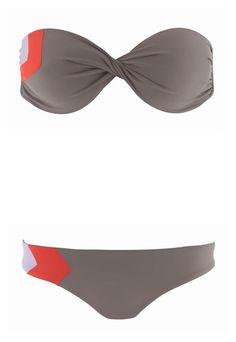 LSpace Color blocked strapless bikini top & bikini brief| LSpace swimwear 2013