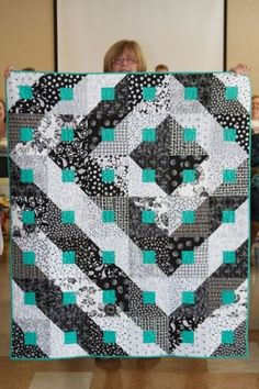 Black, White and Turquoise The McCall's Quilting May/June 2010 issue is no longer available for purchase. If you would like a copy of this pattern, for a small fee, send an e-mail to mcq@creativecraftsgroup.com.