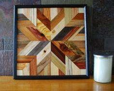 Native American Geometric Design Wood Wall Art by LandWcreations
