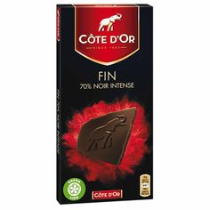 Cote d'Or 70% Dark Chocolate Bar 3.5 oz. (100g) Dark Chocolate Bar, Chocolate Packaging, Cocoa, Tasty, Treats, Jewels, Products, Black People, Sweet Like Candy