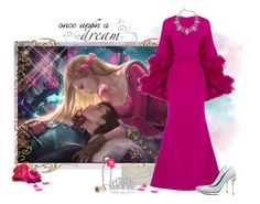 """""""Make Your Dreams Happen (Aurora - Sleeping Beauty)"""" by love-n-laughter ❤ liked on Polyvore featuring jcp, Accessorize, Christian Siriano, Oscar de la Renta, Estée Lauder and Bling Jewelry"""