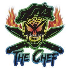 Chef Skull hoodie: Neon