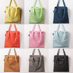 New Women Canvas Shoulder Bag Handbag Tote Bag Shopping Eco Bag Basic #LazydogKorea #ShoulderBag