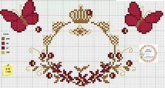 Butterfly Cross Stitch, Mini Cross Stitch, Cross Stitch Rose, Cross Stitch Alphabet, Cross Stitch Embroidery, Cross Stitch Patterns, Etsy Embroidery, Hand Embroidery Flowers, Embroidery Designs