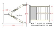 staircase plans design - Google Search
