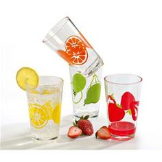 Set de 4 chopes fruits 40 cl Assorties
