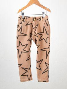 Bobo Choses Fleece Star Pants   Darling Clementine