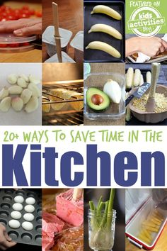 20 Ways to Save Time in the Kitchen! These ideas are genius!