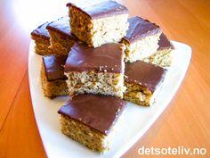 Milky Way langpannekake Krispie Treats, Rice Krispies, Milky Way, Nom Nom, Desserts, Food, Tailgate Desserts, Deserts, Meals